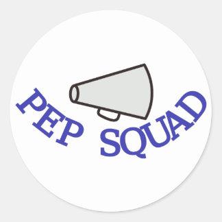Pep Squad Round Sticker