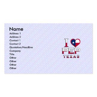 Pep, Texas Business Card