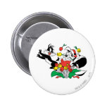 Pepe and Penelope Christmas Gift 6 Cm Round Badge