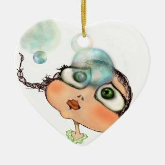 Pepe dagli occhi grandi ceramic heart decoration