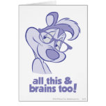 Pepe Le Pew - All This & Brains Greeting Card