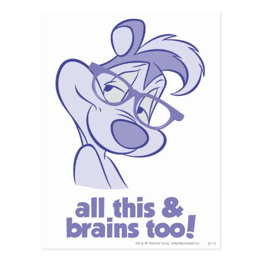Pepe Le Pew - All This & Brains Post Cards