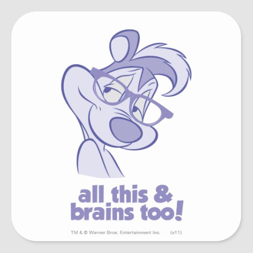 Pepe Le Pew - All This & Brains Square Sticker
