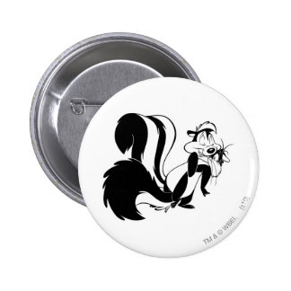 Pepe Le Pew and Penelope 6 Cm Round Badge
