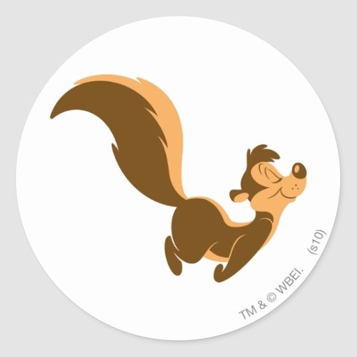 Pepe Le Pew - Flying Stench Round Stickers