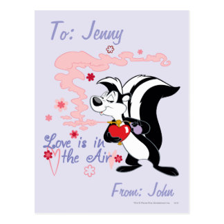 Pepe Le Pew Love is in the Air Postcard