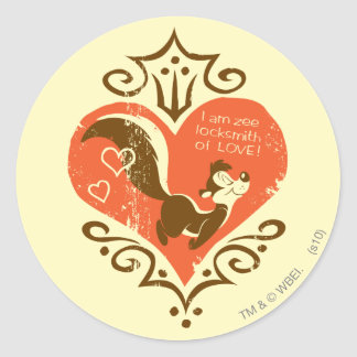 Pepe Locksmith of Love! Round Sticker