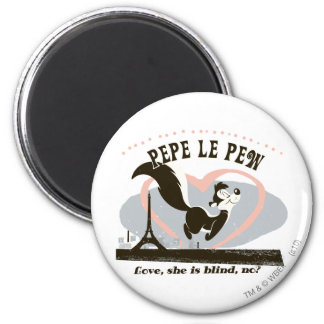 Pepe Love, She Is Blind, No? 6 Cm Round Magnet