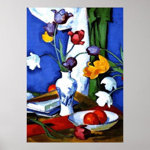 Peploe - Tulips and Fruit Poster