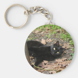 Pepper Cat Katrina Survivor Basic Round Button Key Ring