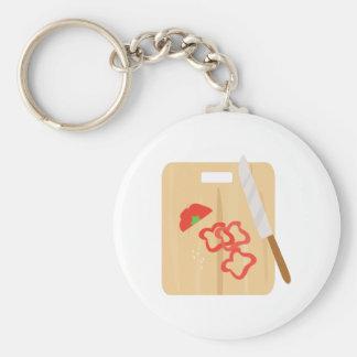 Pepper Cutting Board Keychain