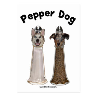 Pepper Dog and Salty Dog Business Cards