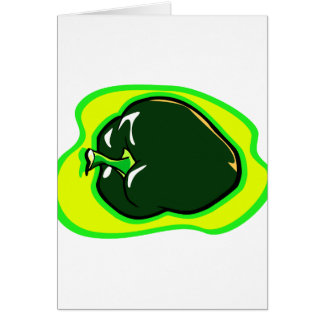 Pepper green habanero on bright yellow note card