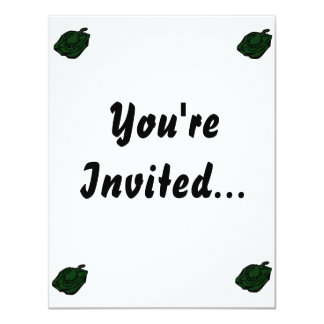 Pepper green half graphic abstract.png 11 cm x 14 cm invitation card