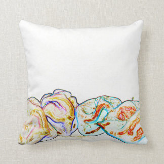 pepper group artsy outline hot pepper food design throw cushion