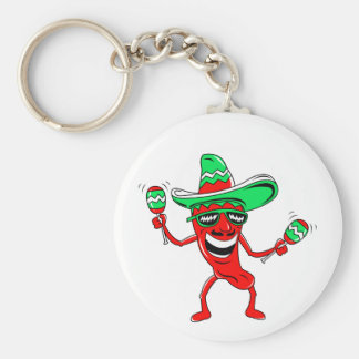 Pepper maracas sombrero sunglasses.png basic round button key ring