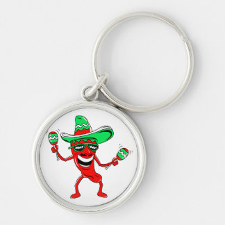 Pepper maracas sombrero sunglasses.png Silver-Colored round key ring