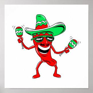 Pepper maracas sombrero sunglasses.png poster