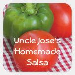Pepper N Tomato Picnic Square Sticker