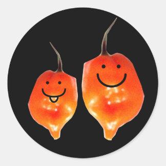 Pepper Pals Round Stickers