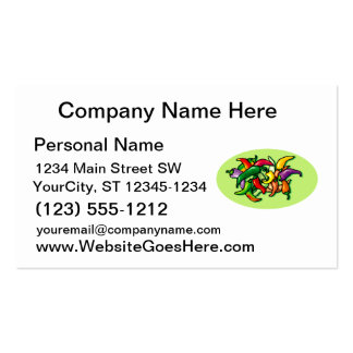 Pepper Pile Graphic Colorful design Pack Of Standard Business Cards