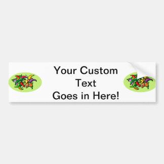 Pepper Pile Graphic Colourful design Bumper Sticker