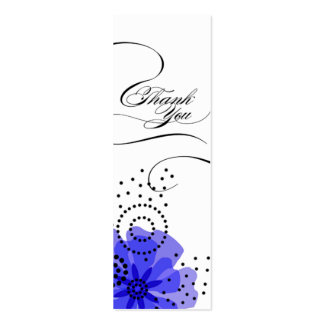 Pepper Poppies Gift Tag blue Business Card