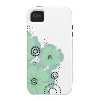 Pepper Poppies mint iPhone 4 Cases