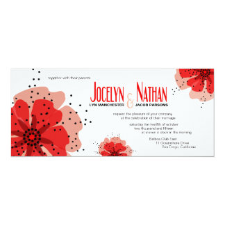 Pepper Poppies Wedding red Card