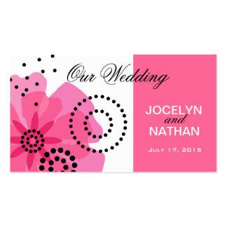 Pepper Poppies Wedding Website pink Business Cards