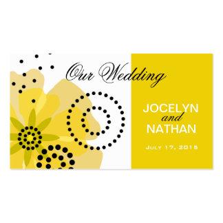 Pepper Poppies Wedding Website yellow Business Card Templates