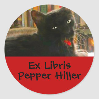 Pepper the Cat Personalized Round Sticker