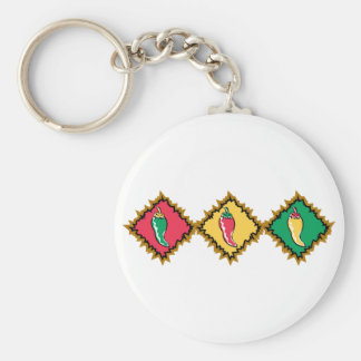 Pepper Trio Basic Round Button Key Ring