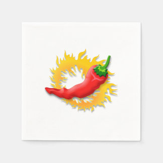 Pepper with flame disposable serviette