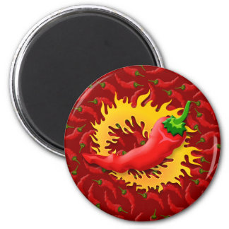 Pepper with flame magnet