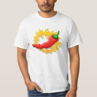 Pepper with flame tee shirts