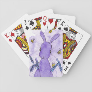 Peppermint Art Lavender Bunny Playing Cards