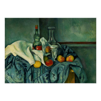 Peppermint Bottle (Paul Cezanne) Poster