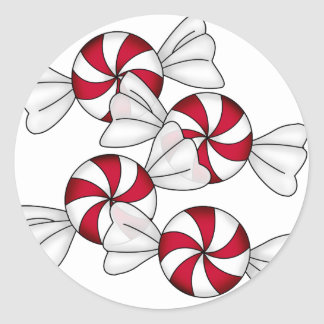 Peppermint Candies Classic Round Sticker