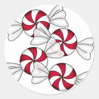 Peppermint Candies Round Sticker