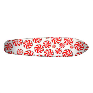 Peppermint Candy Background Custom Skateboard