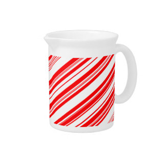 Peppermint Candy Cane Christmas Pitcher