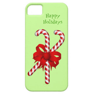 Peppermint Candy Cane Red Bow Custom Christmas iPhone 5 Covers