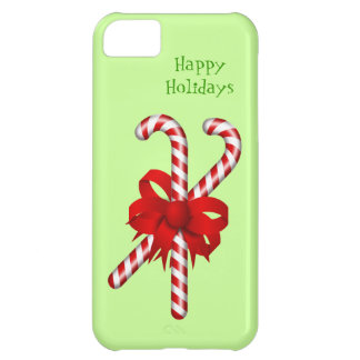 Peppermint Candy Cane Red Bow Custom Christmas iPhone 5C Case