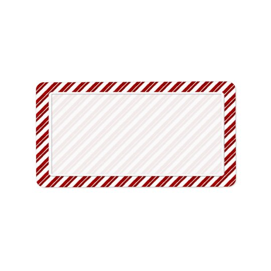Peppermint Candy Cane Stripe Address Labels