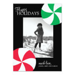 Peppermint Candy Holiday Photo Cards Invitation