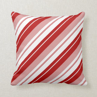 Peppermint Candy Stripe Throw Pillow