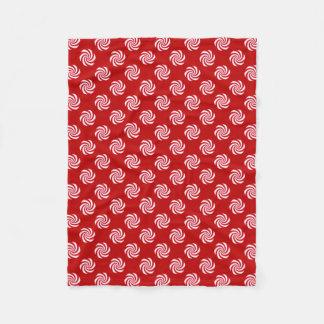 Peppermint Candy Swirl Christmas Holiday Fleece Blanket