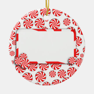 Peppermint Candy w/Tag Christmas Ornament
