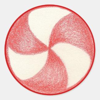Peppermint Christmas Candy Sticker